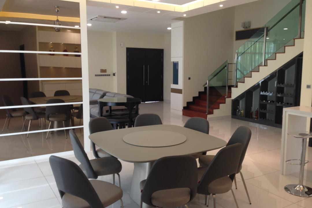 Kinrara Residence, Puchong, Trivia Group Sdn. Bhd., Modern, Landed, Chair, Furniture, Banister, Handrail, Dining Table, Table, Conference Room, Indoors, Meeting Room, Room