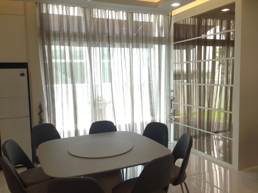 Modern, Landed, Kinrara Residence, Puchong, Interior Designer, Trivia Group Sdn. Bhd., Chair, Furniture, Conference Room, Indoors, Meeting Room, Room