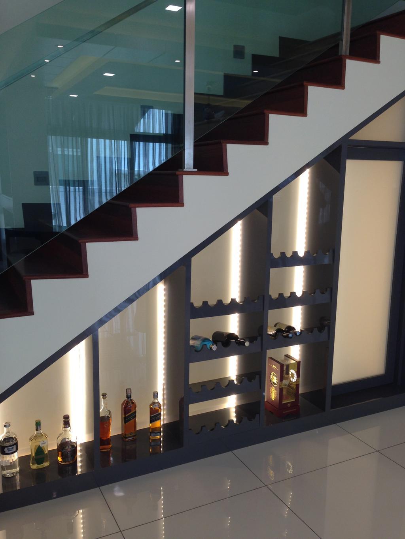 Modern, Landed, Kinrara Residence, Puchong, Interior Designer, Trivia Group Sdn. Bhd., Indoors, Interior Design, Banister, Handrail