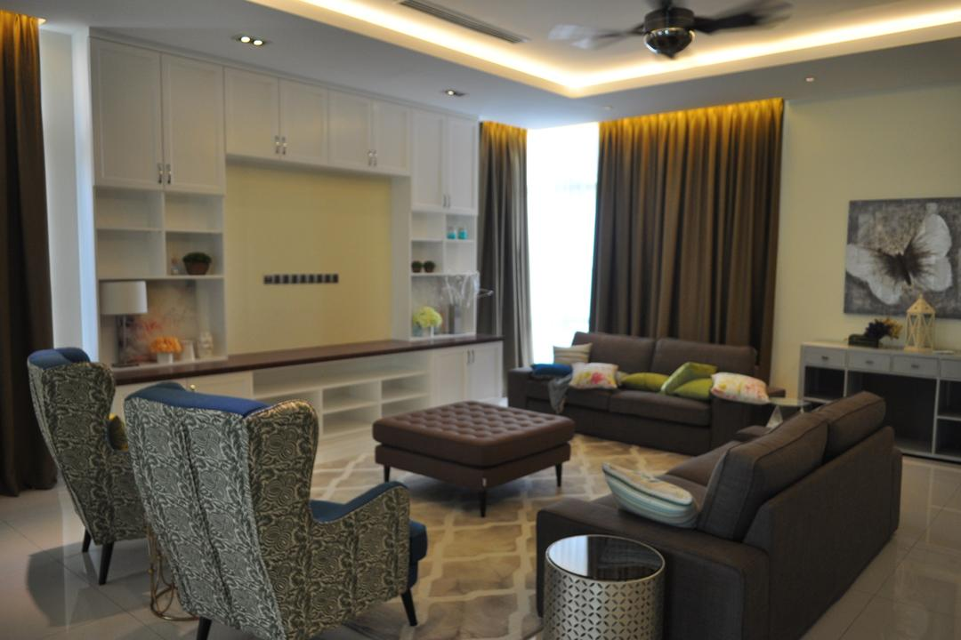 Kinrara Residence, Puchong, Trivia Group Sdn. Bhd., Minimalistic, Landed, Couch, Furniture, Chair, Dining Room, Indoors, Interior Design, Room
