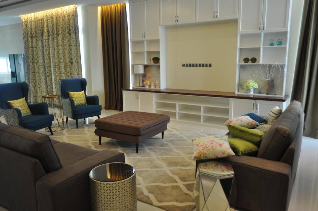 Minimalistic, Landed, Kinrara Residence, Puchong, Interior Designer, Trivia Group Sdn. Bhd., Couch, Furniture, Indoors, Interior Design, Living Room, Room