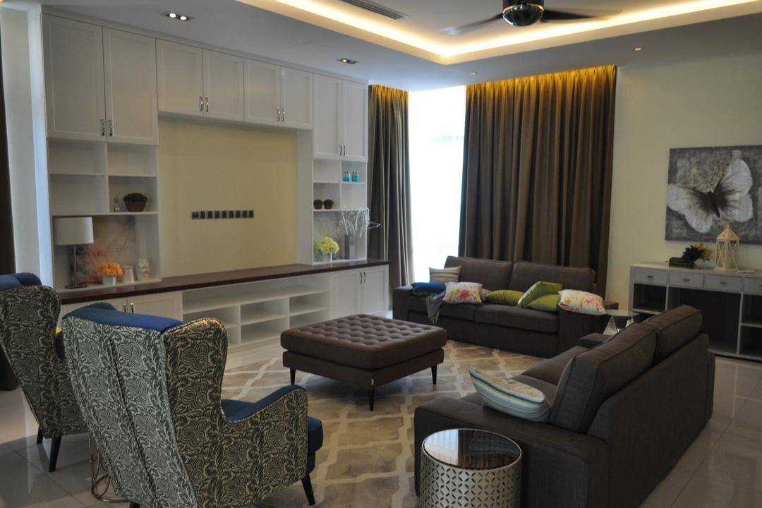 Kinrara Residence, Puchong, Trivia Group Sdn. Bhd., Minimalistic, Landed, Couch, Furniture, Chair, Indoors, Room, Flora, Jar, Plant, Potted Plant, Pottery, Vase