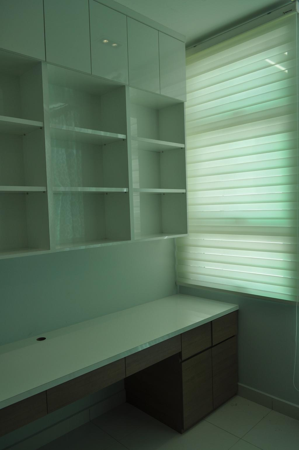 Minimalistic, Landed, Kinrara Residence, Puchong, Interior Designer, Trivia Group Sdn. Bhd., Closet, Cupboard, Furniture, Bookcase