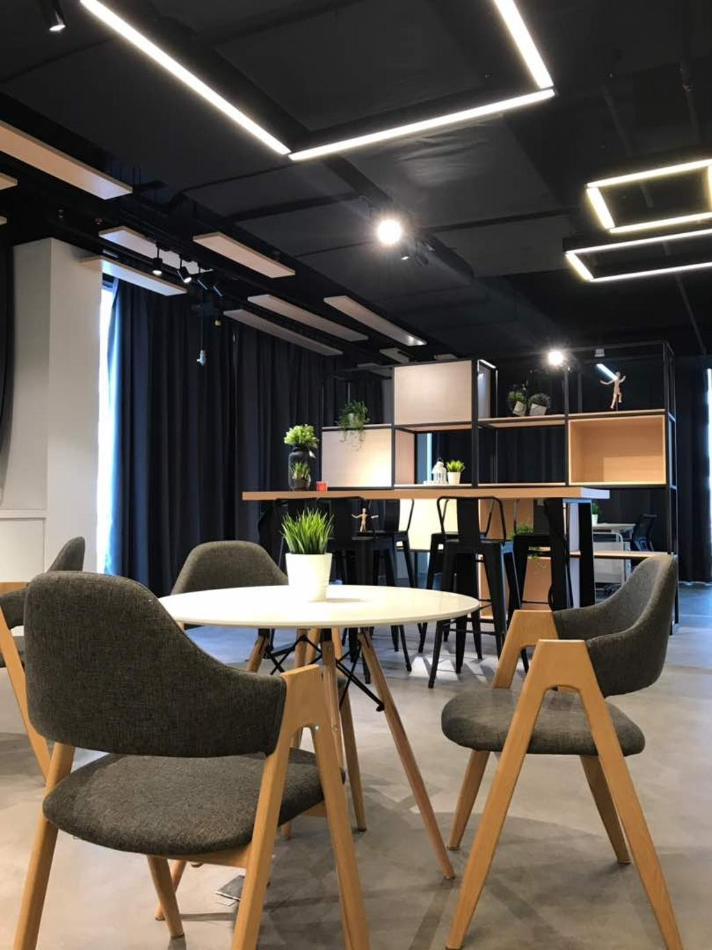 We Pays Office, Mahkota Parade, Commercial, Interior Designer, Trivia Group Sdn. Bhd., Modern, Contemporary, Flora, Jar, Plant, Potted Plant, Pottery, Vase, Chair, Furniture, Dining Table, Table