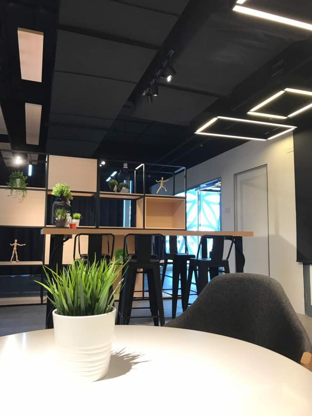 We Pays Office, Mahkota Parade, Commercial, Interior Designer, Trivia Group Sdn. Bhd., Modern, Contemporary, Flora, Jar, Plant, Potted Plant, Pottery, Vase, Chair, Furniture, Dining Room, Indoors, Interior Design, Room, Apartment, Building, Housing, Loft