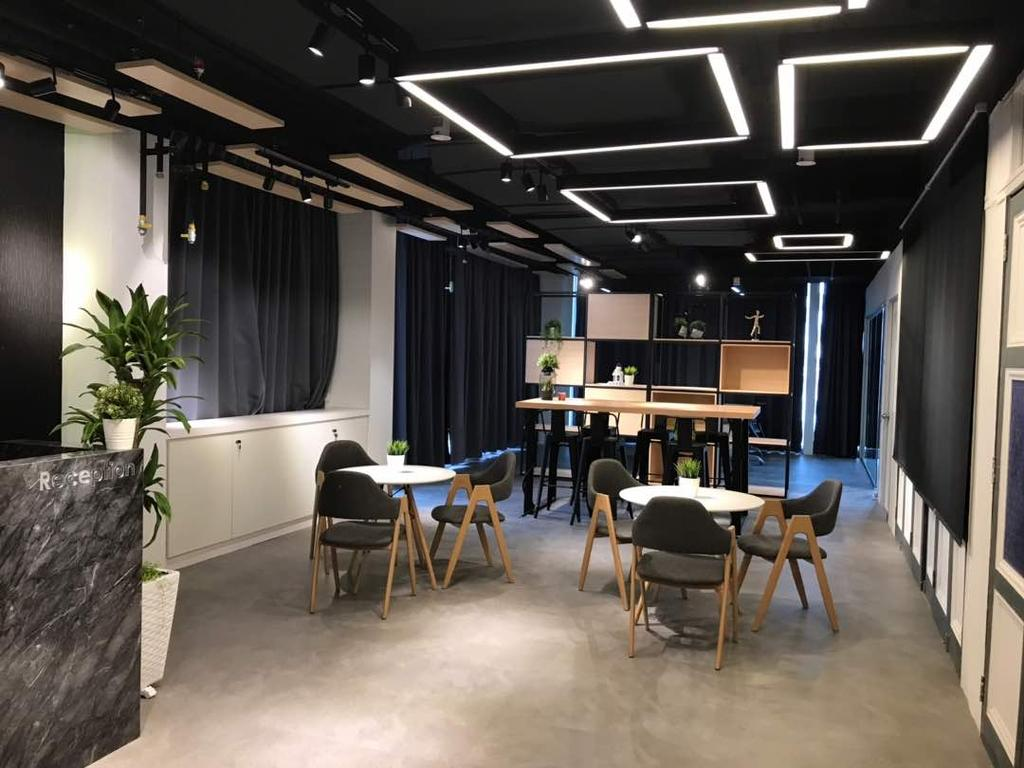 We Pays Office, Mahkota Parade, Commercial, Interior Designer, Trivia Group Sdn. Bhd., Modern, Contemporary, Flora, Jar, Plant, Potted Plant, Pottery, Vase, Couch, Furniture, Dining Table, Table, Lighting, Indoors, Room