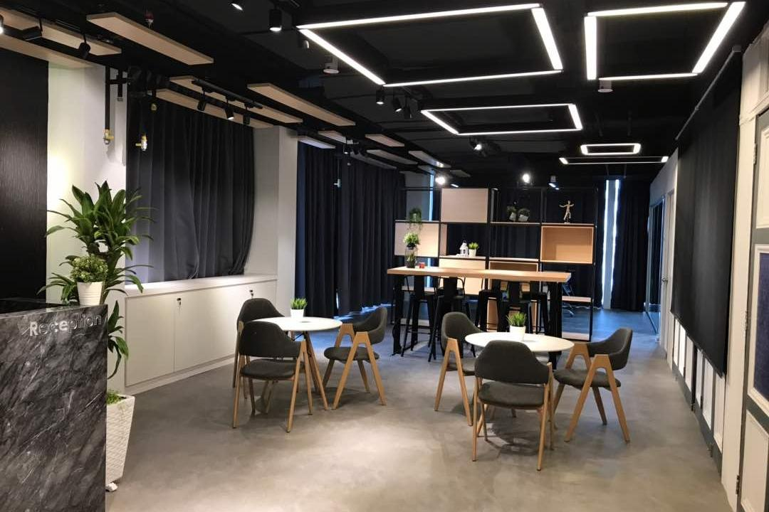 We Pays Office, Mahkota Parade, Trivia Group Sdn. Bhd., Modern, Contemporary, Commercial, Flora, Jar, Plant, Potted Plant, Pottery, Vase, Couch, Furniture, Dining Table, Table, Lighting, Indoors, Room