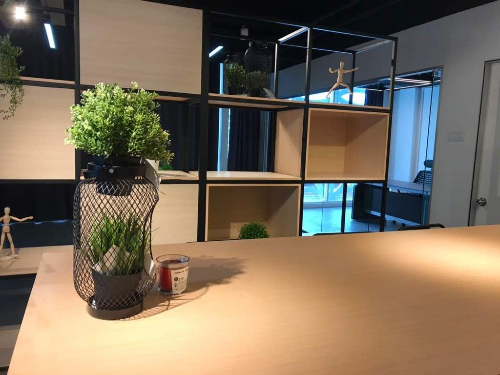 We Pays Office, Mahkota Parade, Commercial, Interior Designer, Trivia Group Sdn. Bhd., Modern, Contemporary, Flora, Jar, Plant, Potted Plant, Pottery, Vase, Couch, Furniture