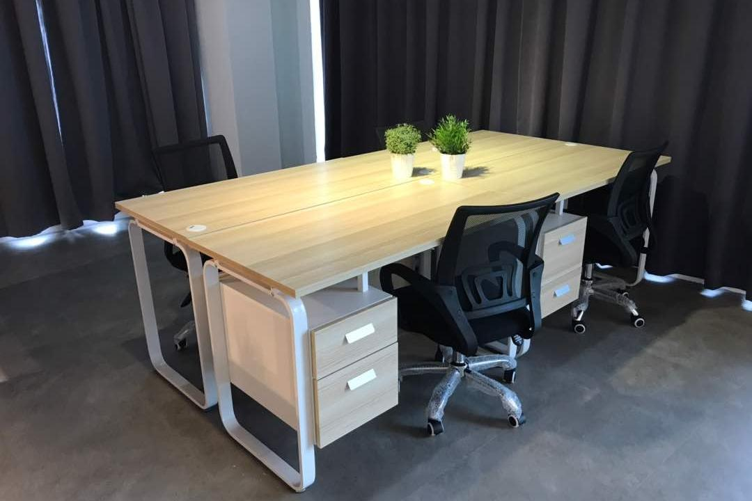 We Pays Office, Mahkota Parade, Trivia Group Sdn. Bhd., Modern, Contemporary, Commercial, Flora, Jar, Plant, Potted Plant, Pottery, Vase, Dining Table, Furniture, Table, Chair, Drawer
