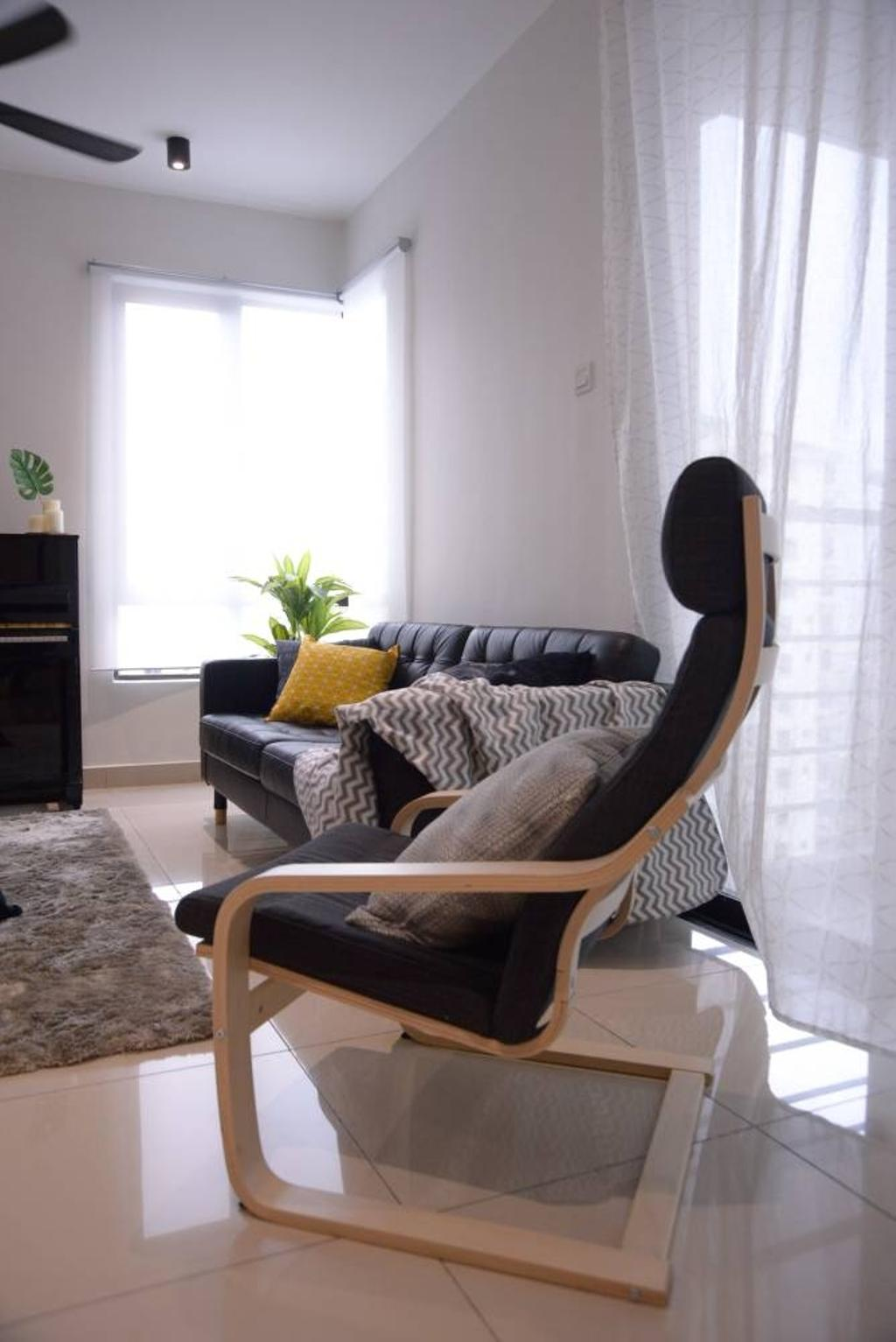 Modern, Condo, The Atmosphere, Puchong, Interior Designer, RK Interior Studio, Industrial, Flora, Jar, Plant, Potted Plant, Pottery, Vase, Chair, Furniture, Couch
