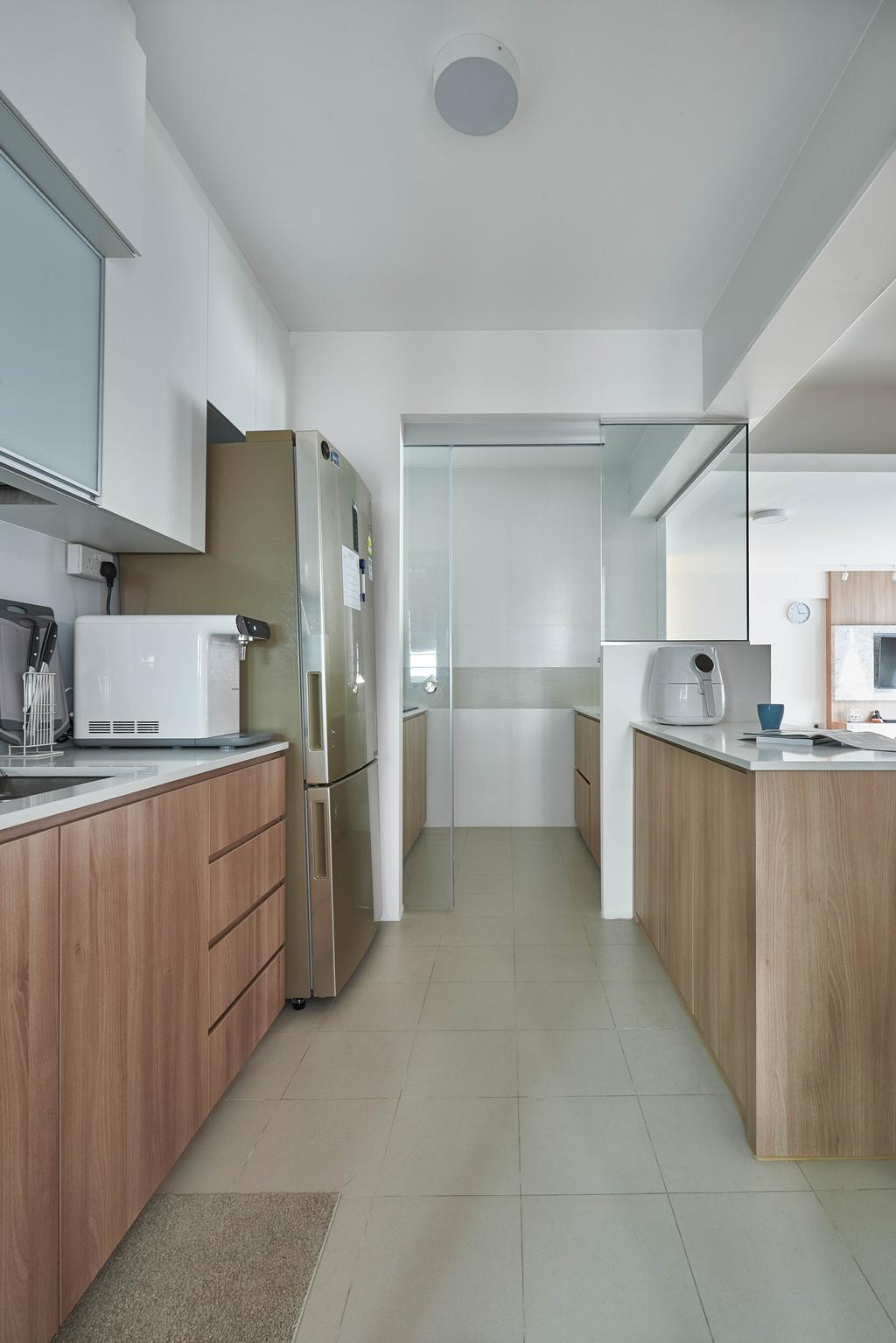 Scandinavian, HDB, Kitchen, Yishun Ring Road, Interior Designer, MET Interior, Indoors, Interior Design, Room, Bathroom