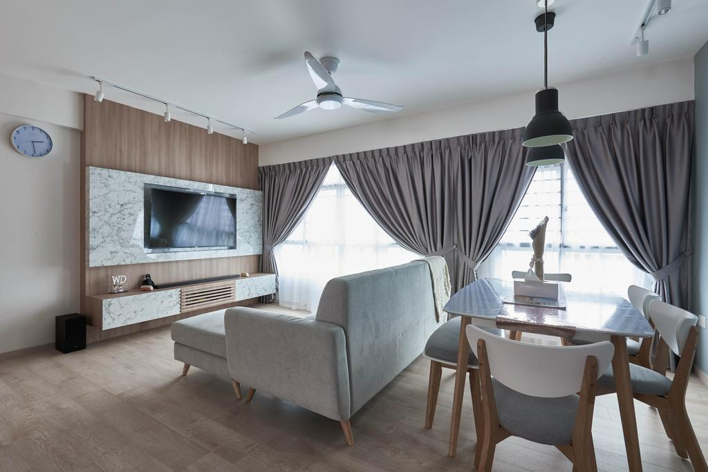 Scandinavian, HDB, Yishun Ring Road, Interior Designer, MET Interior, Chair, Furniture, Indoors, Room, Couch, Dining Table, Table