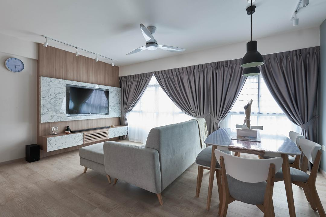 Yishun Ring Road, MET Interior, Scandinavian, HDB, Chair, Furniture, Indoors, Room, Couch, Dining Table, Table