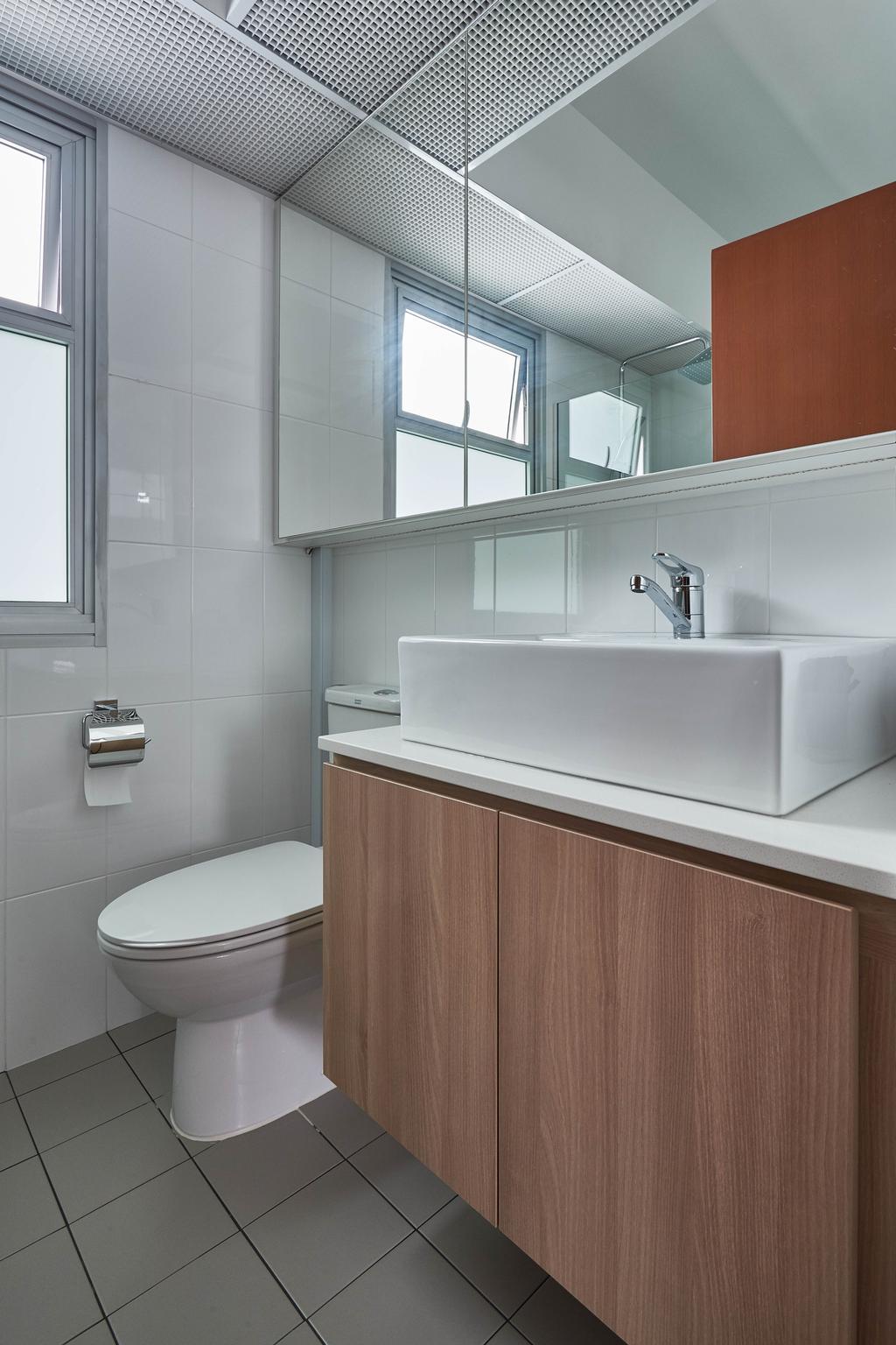 Scandinavian, HDB, Bathroom, Yishun Ring Road, Interior Designer, MET Interior