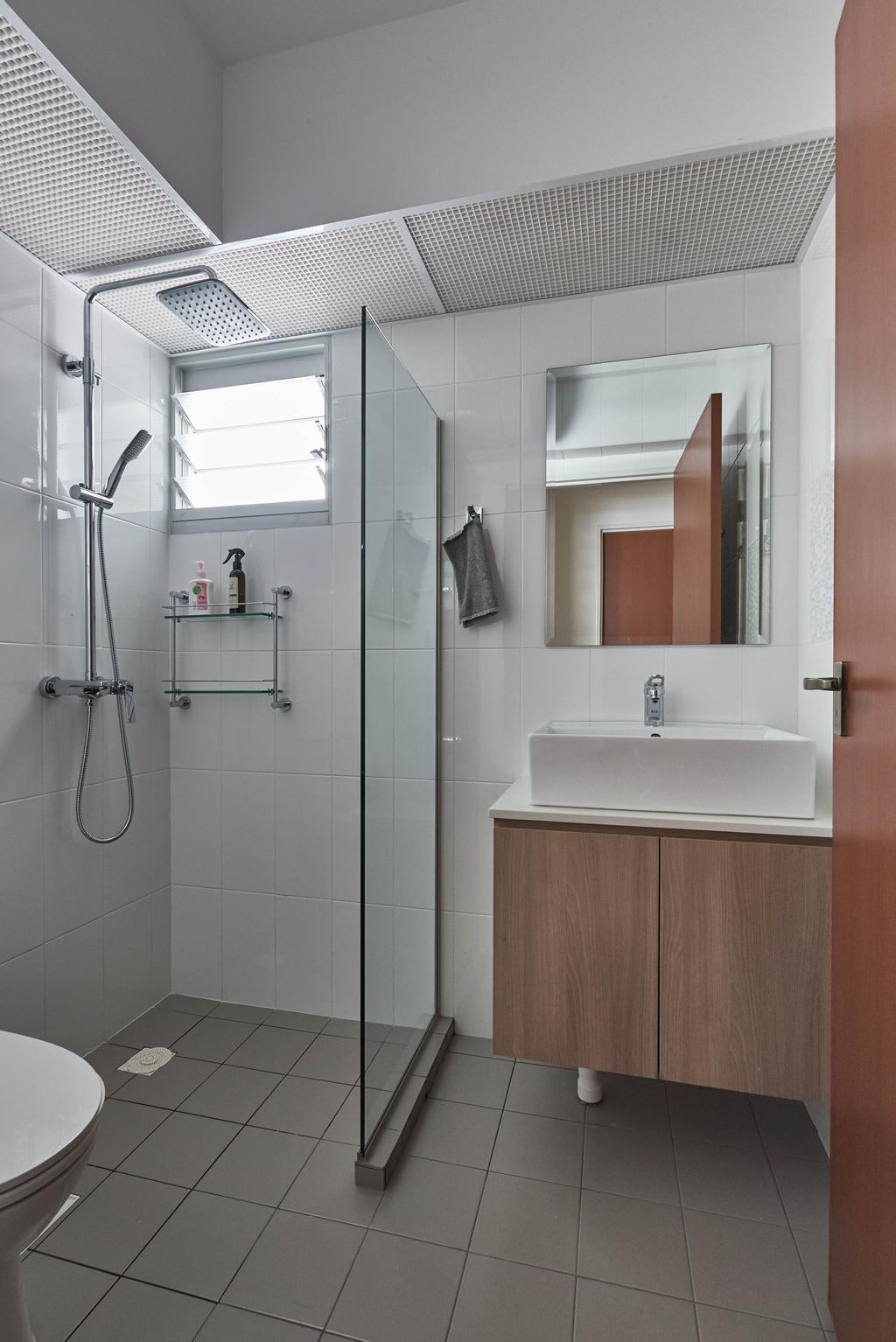 Scandinavian, HDB, Bathroom, Yishun Ring Road, Interior Designer, MET Interior, Indoors, Interior Design, Room, Shower