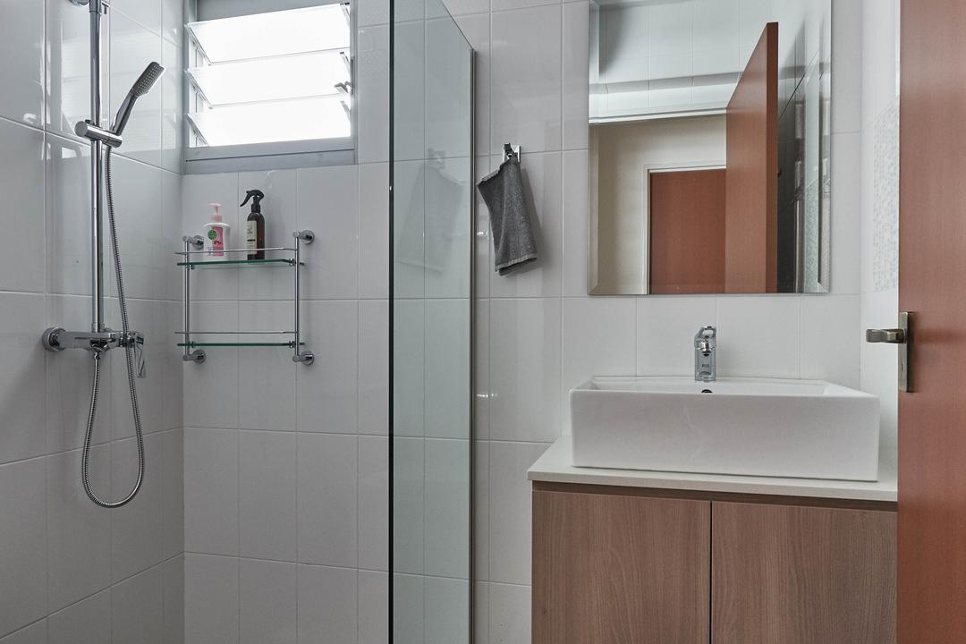 Yishun Ring Road, MET Interior, Scandinavian, Bathroom, HDB, Indoors, Interior Design, Room, Shower