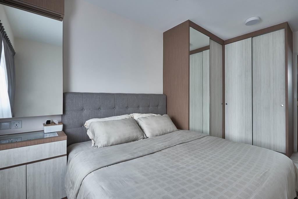 Scandinavian, HDB, Bedroom, Yishun Ring Road, Interior Designer, MET Interior, Building, Housing, Indoors, Loft
