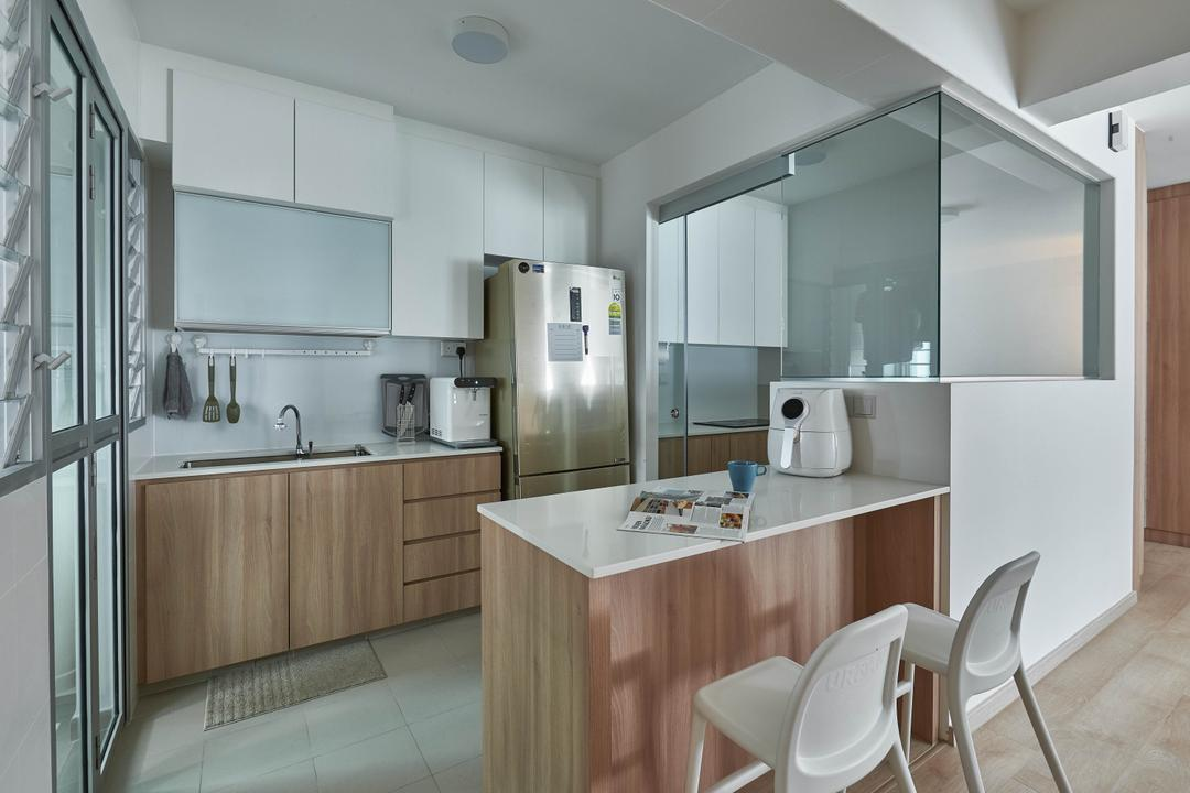 Yishun Ring Road, MET Interior, Scandinavian, Kitchen, HDB, Chair, Furniture