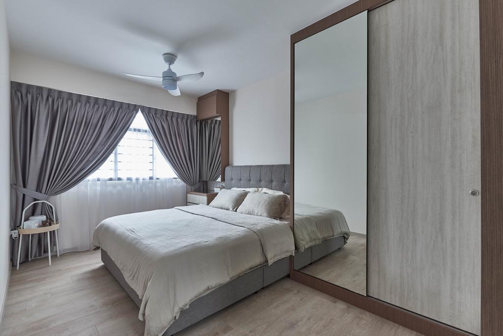 Scandinavian, HDB, Bedroom, Yishun Ring Road, Interior Designer, MET Interior