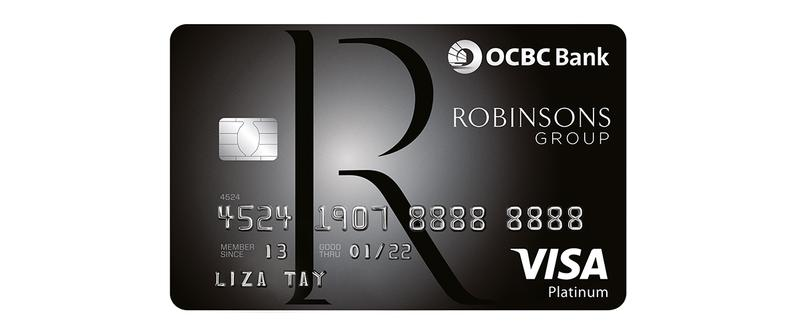 Robinsons The Heeren OCBC Robinsons Card