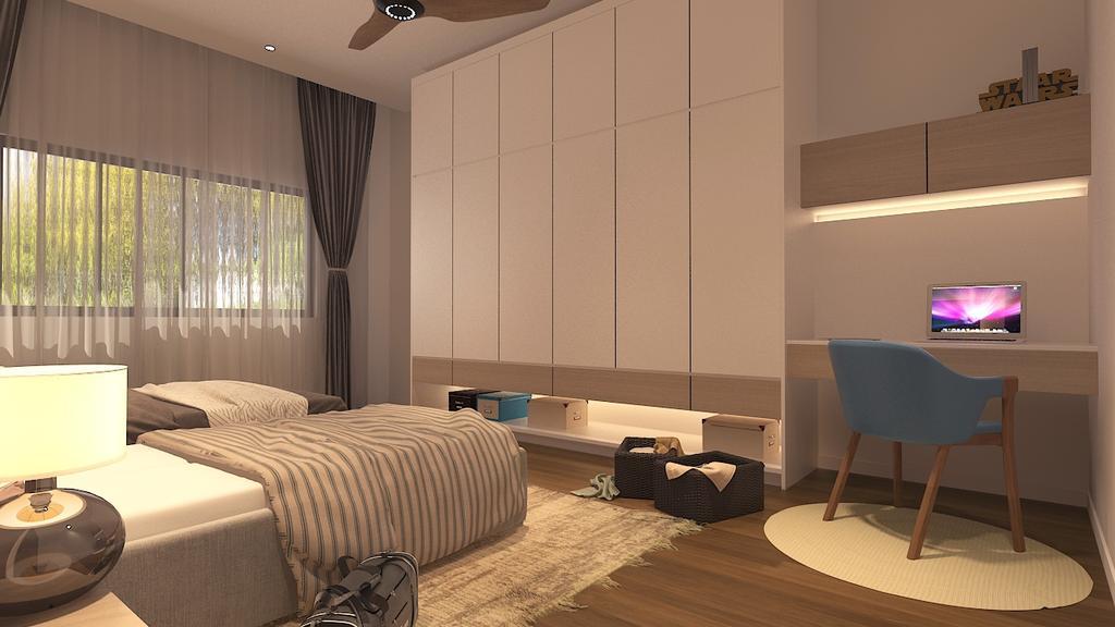 Modern, Landed, Mines Resort, Seri Kembangan, Interior Designer, Philia Interior Design Studio, Industrial
