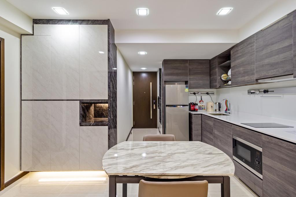 Scandinavian, Condo, Kitchen, Sims Urban Oasis, Interior Designer, Starry Homestead, Modern