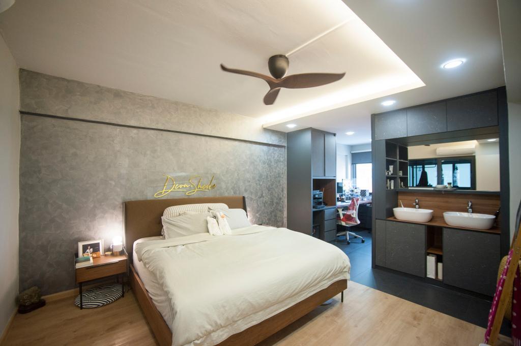 Scandinavian, HDB, Bedroom, Kim Tian Road, Interior Designer, Starry Homestead