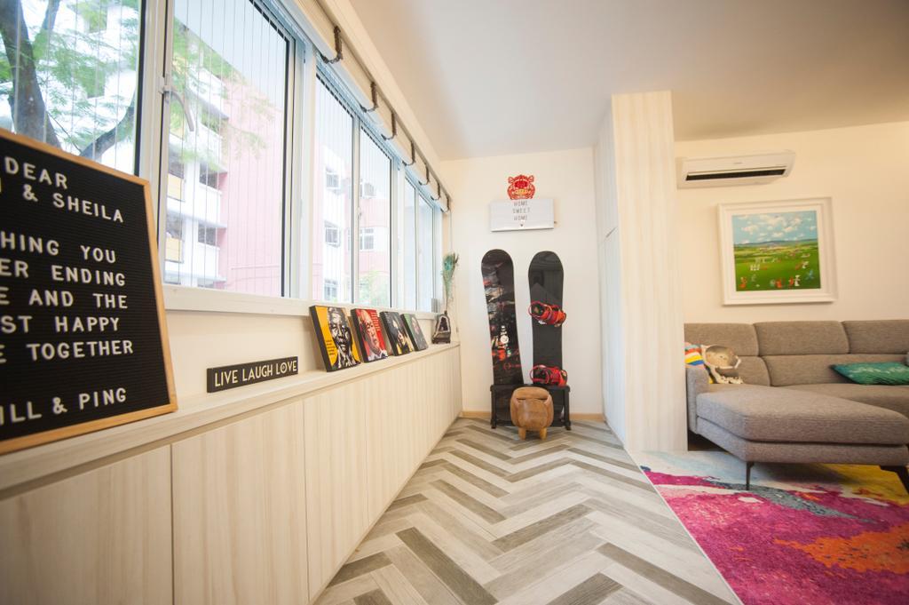 Scandinavian, HDB, Living Room, Kim Tian Road, Interior Designer, Starry Homestead