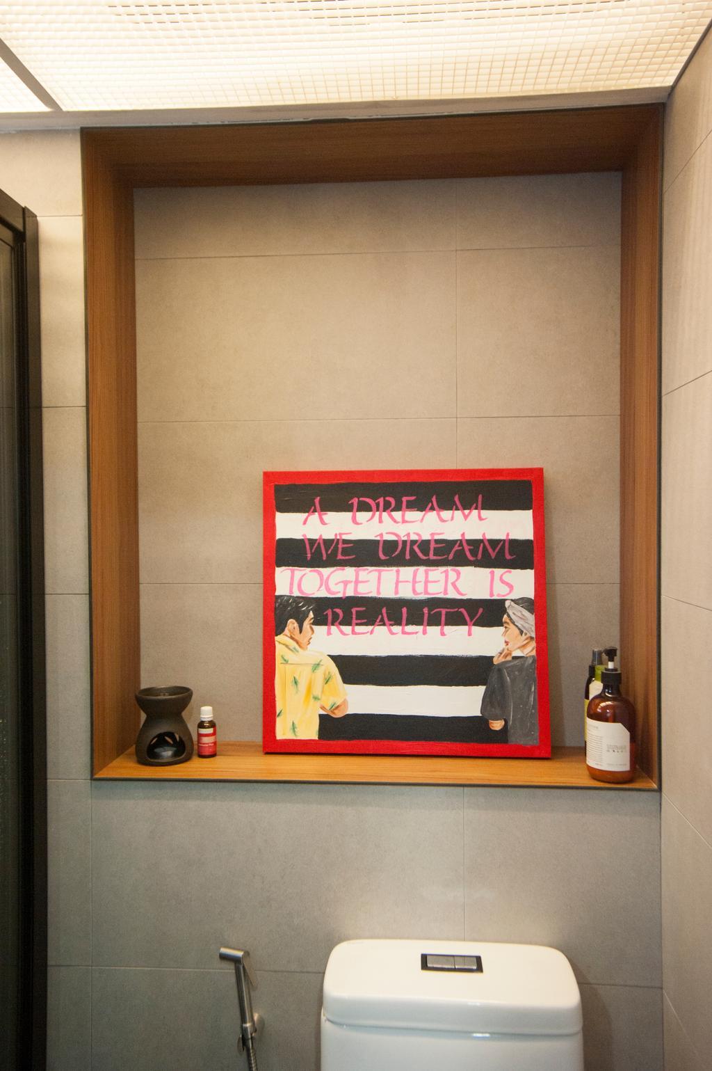Scandinavian, HDB, Bathroom, Kim Tian Road, Interior Designer, Starry Homestead