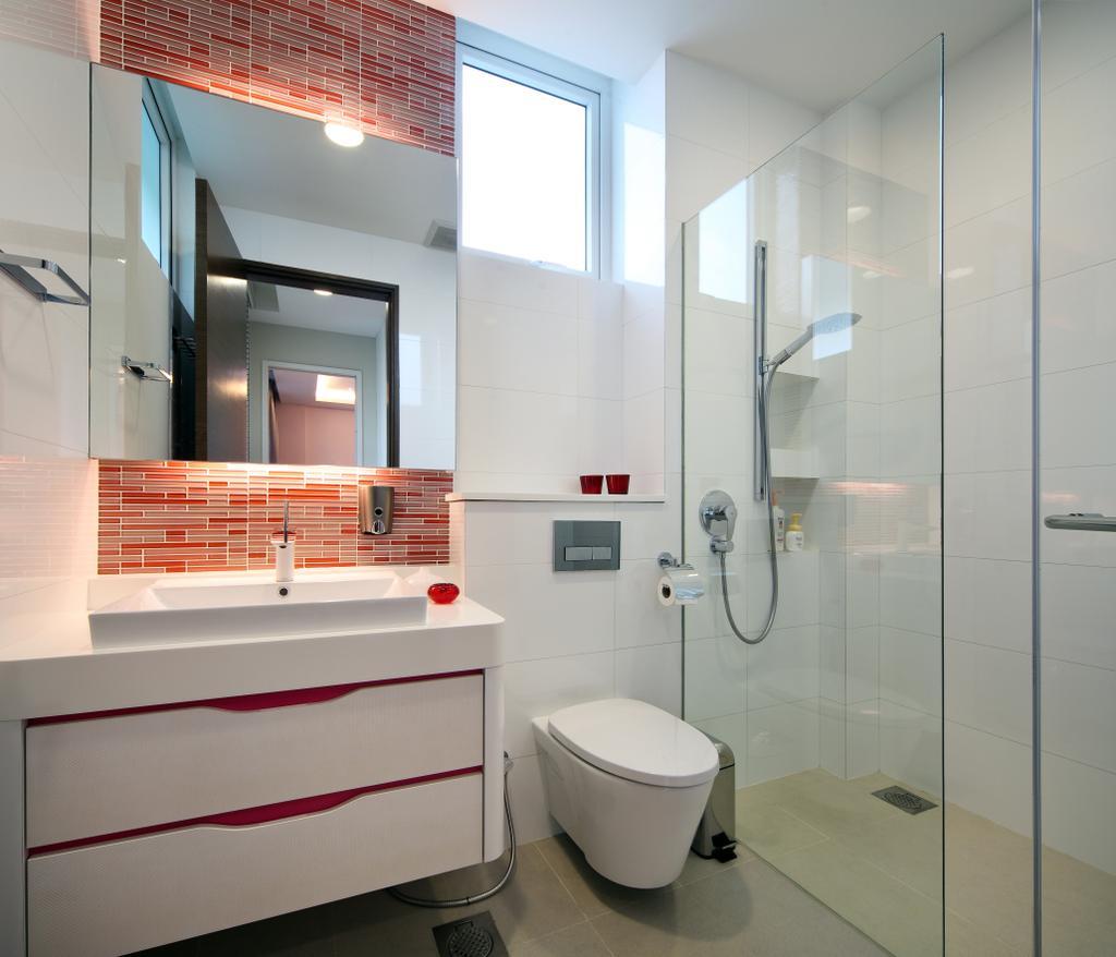 Modern, Landed, Bathroom, Mackerrow Road, Interior Designer, The Interior Place