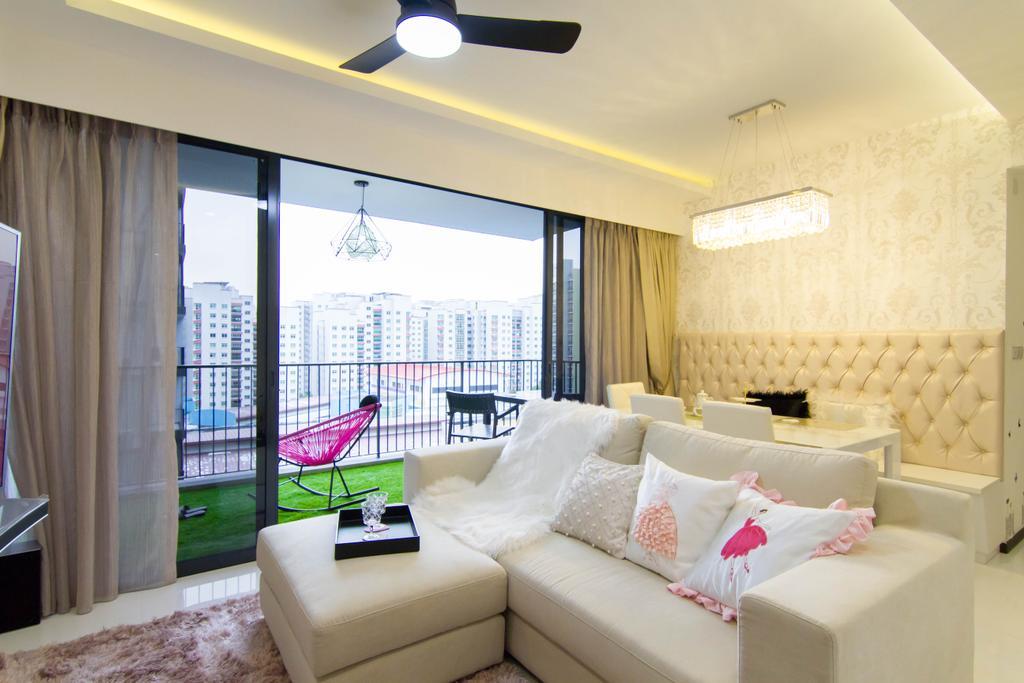 Transitional, Condo, Living Room, Waterbay, Interior Designer, The Interior Place