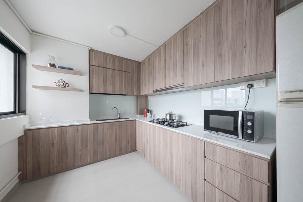 Contemporary, HDB, Kitchen, Pending Road, Interior Designer, Zenith Arc
