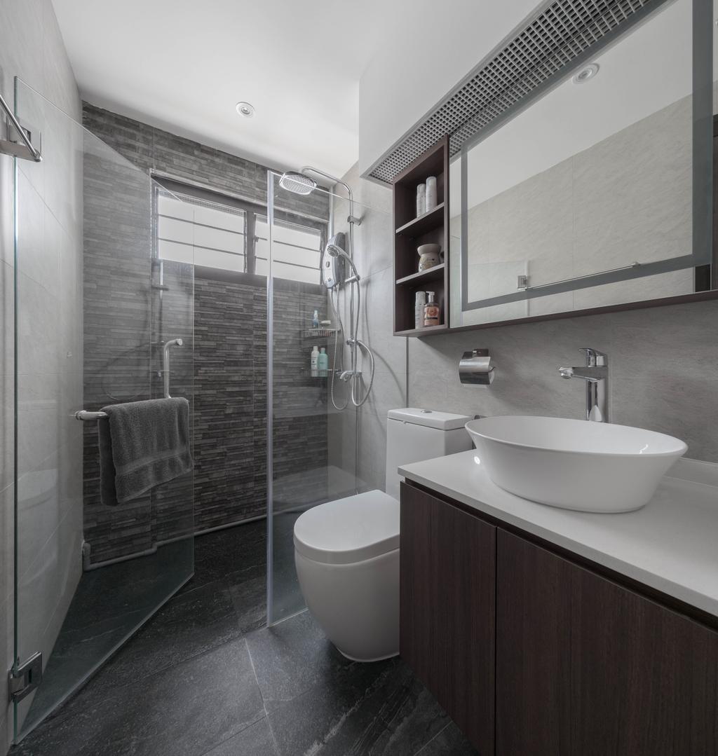 Contemporary, HDB, Bathroom, Pending Road, Interior Designer, Zenith Arc