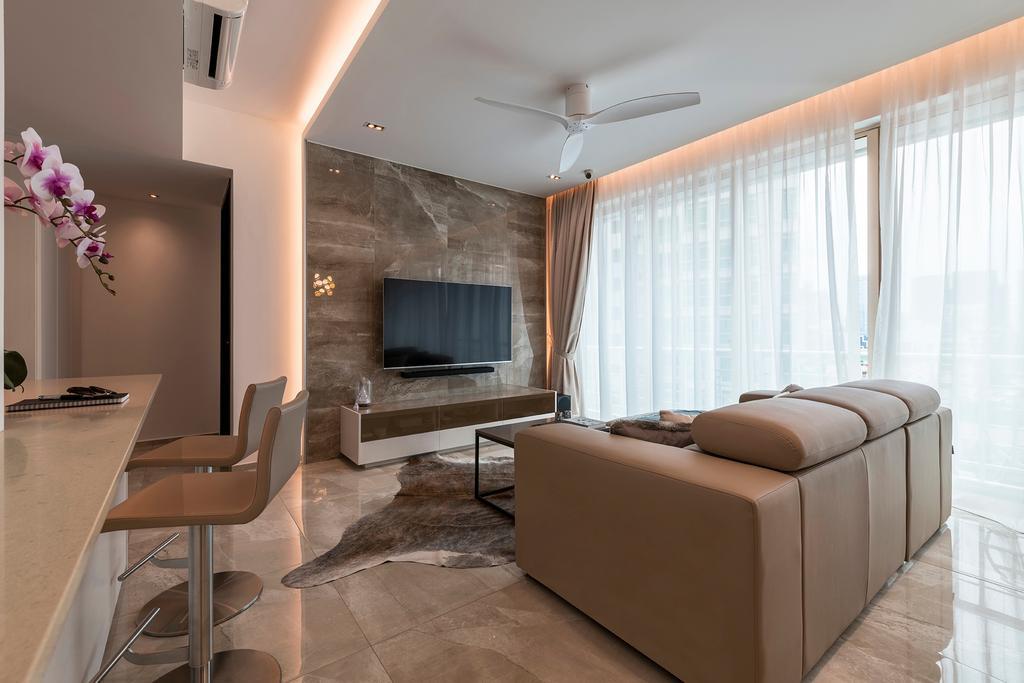 Modern, Condo, Living Room, Melrose Park, Interior Designer, erstudio