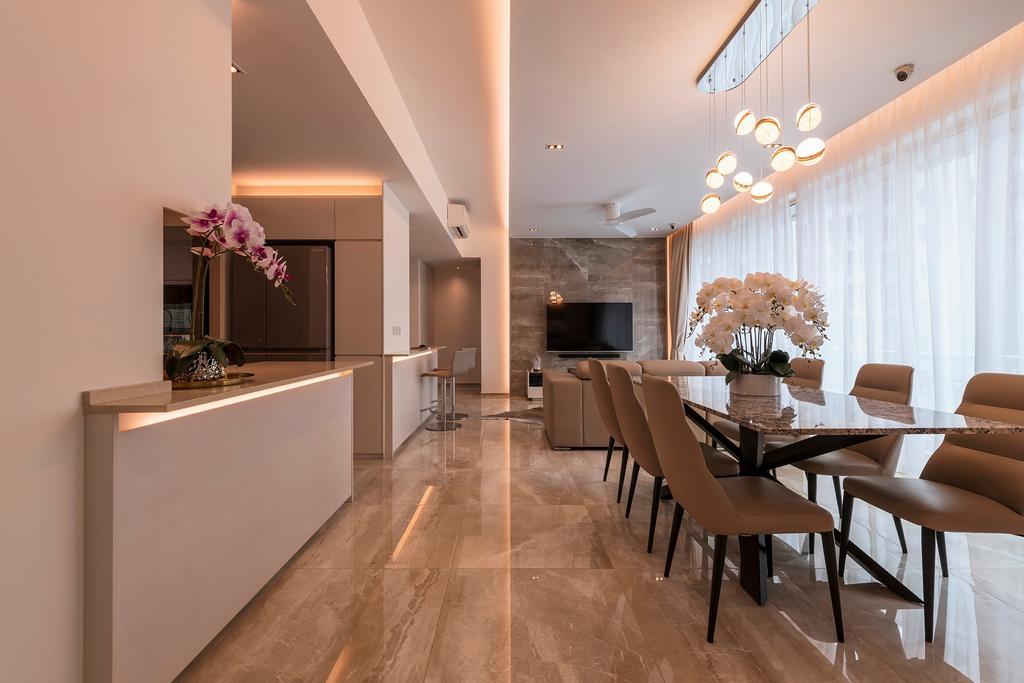 Modern, Condo, Dining Room, Melrose Park, Interior Designer, erstudio