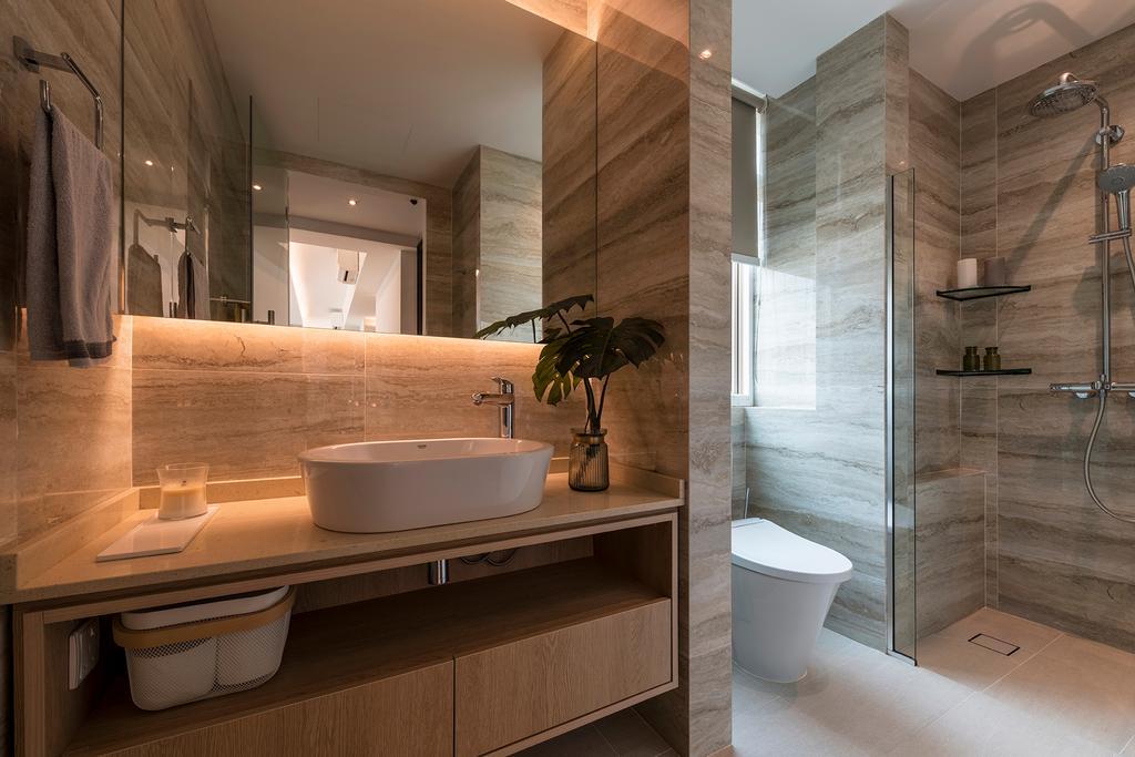 Modern, Condo, Bathroom, Melrose Park, Interior Designer, erstudio