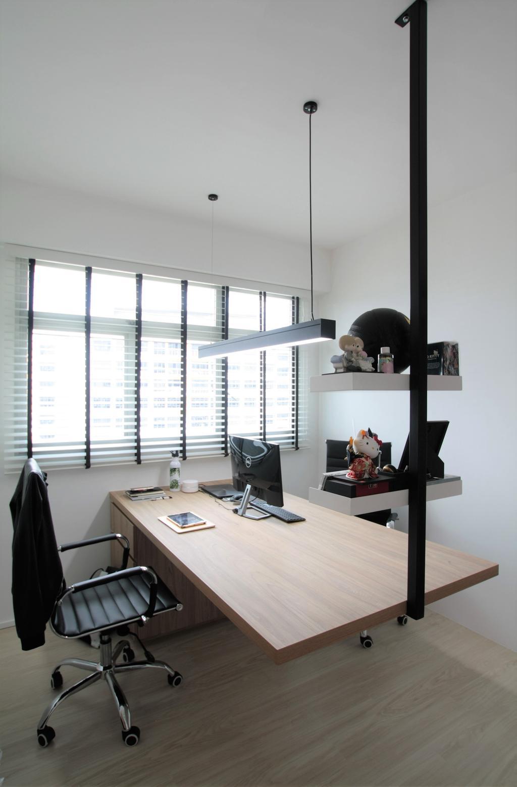 Scandinavian, HDB, Study, Anchorvale Crescent, Interior Designer, Intrigue-d Design Consultancy