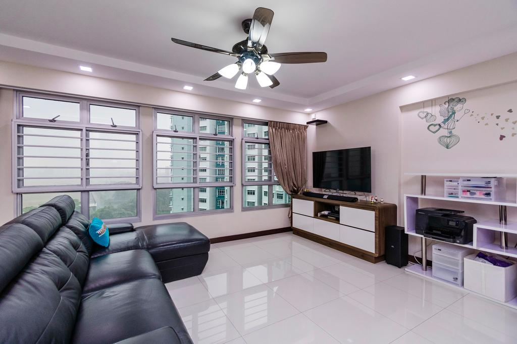 Modern, HDB, Living Room, Fernvale, Interior Designer, Great Oasis Interior Design