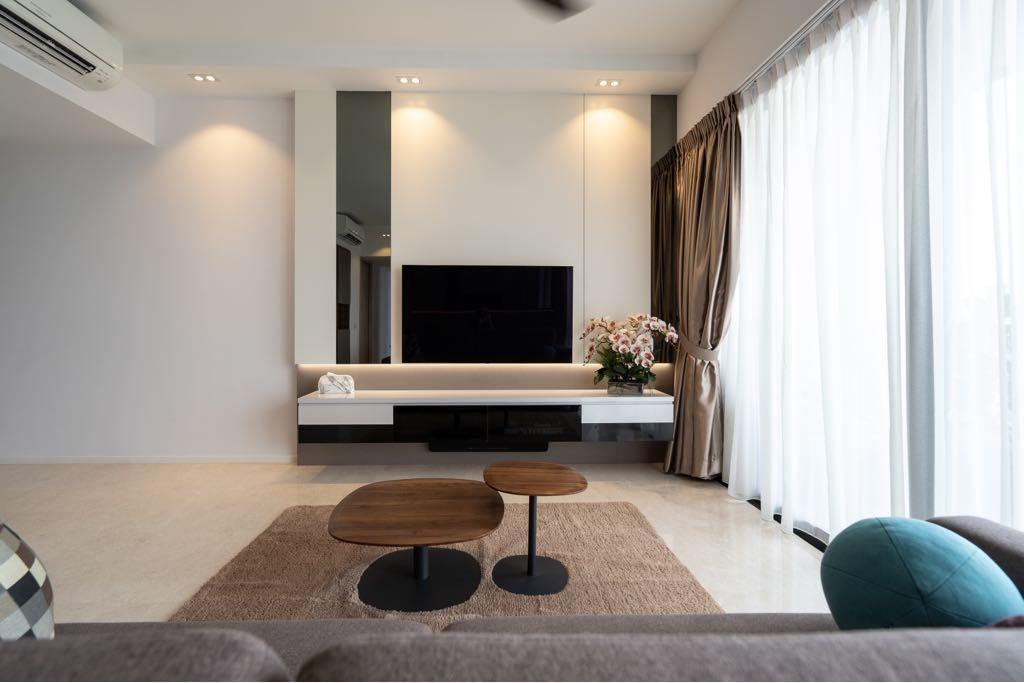 Modern, Condo, Living Room, The Panorama, Interior Designer, MADE Artisan ID, Contemporary