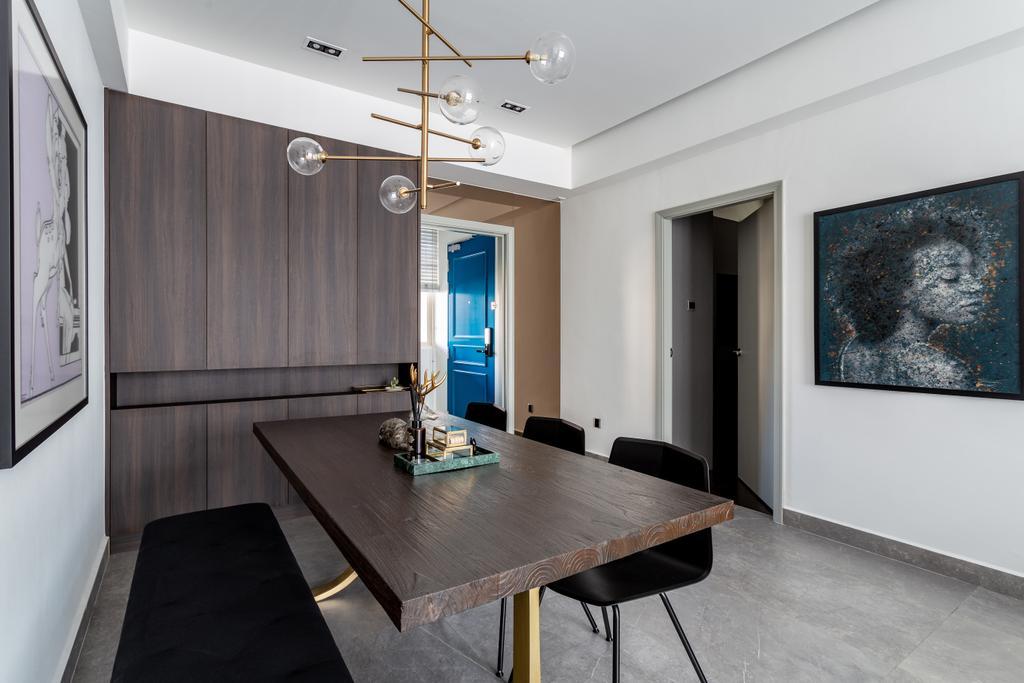 Contemporary, Condo, Dining Room, Emerald East, Interior Designer, Habit
