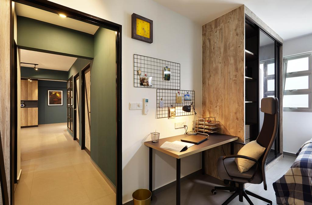 Industrial, HDB, Study, Lorong 1 Toa Payoh, Interior Designer, D5 Studio Image