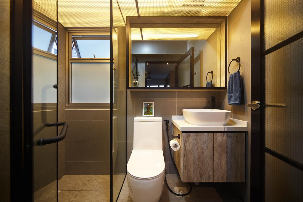 Industrial, HDB, Bathroom, Lorong 1 Toa Payoh, Interior Designer, D5 Studio Image