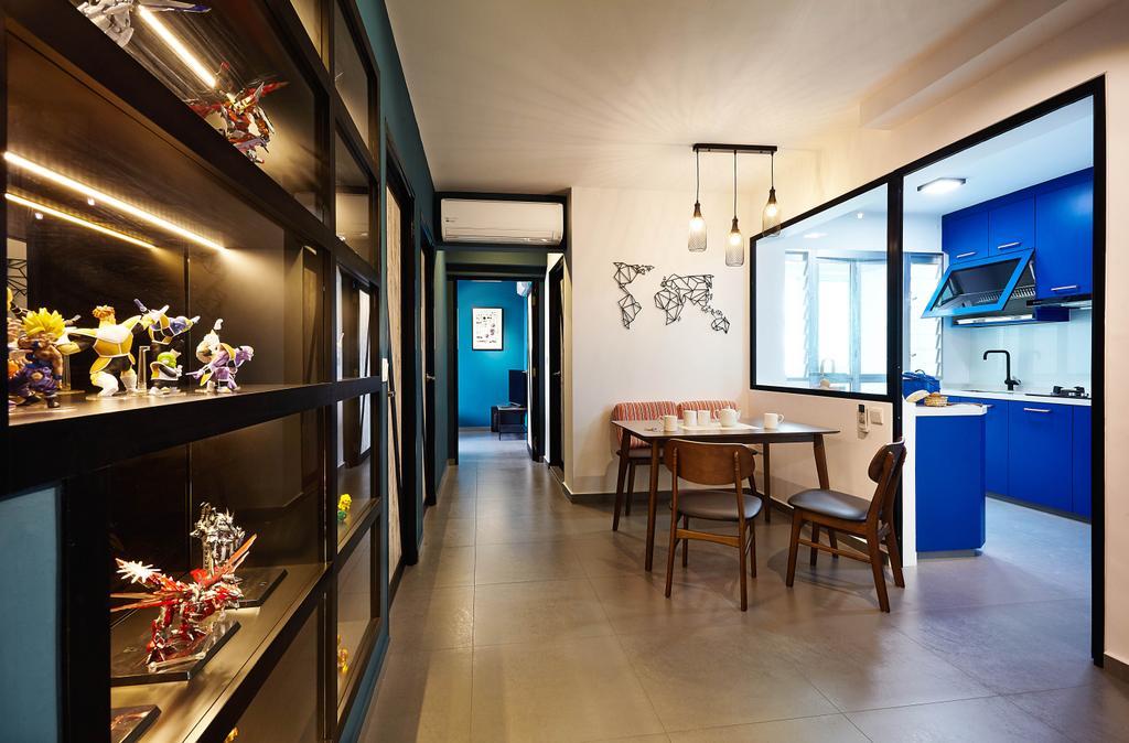 Industrial, HDB, Dining Room, Lorong 1 Toa Payoh, Interior Designer, D5 Studio Image