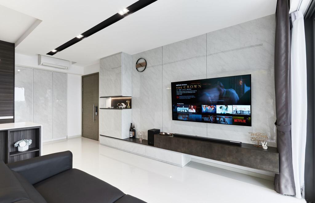 Modern, Condo, Living Room, The Terrace, Interior Designer, Charlotte's Carpentry