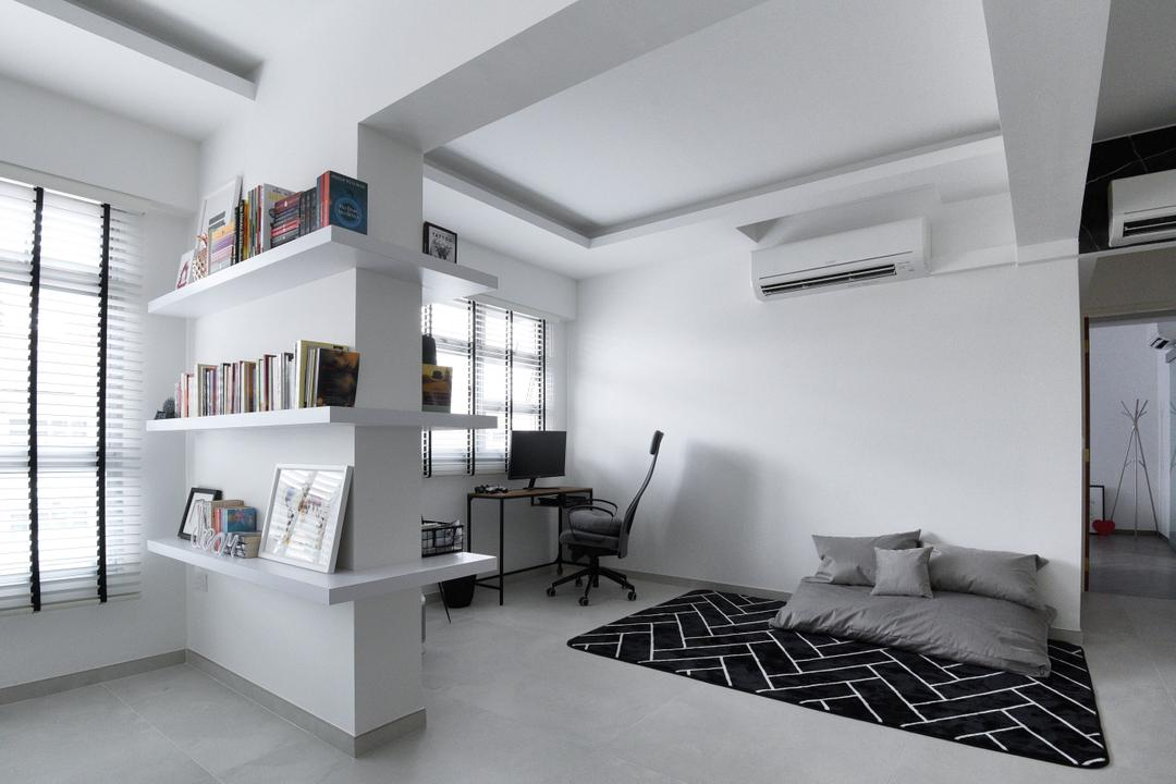 Bukit Batok West Avenue 8, Colourbox Interior, Modern, Contemporary, HDB, Book Shelves, Wall Shelf, Bookshelf
