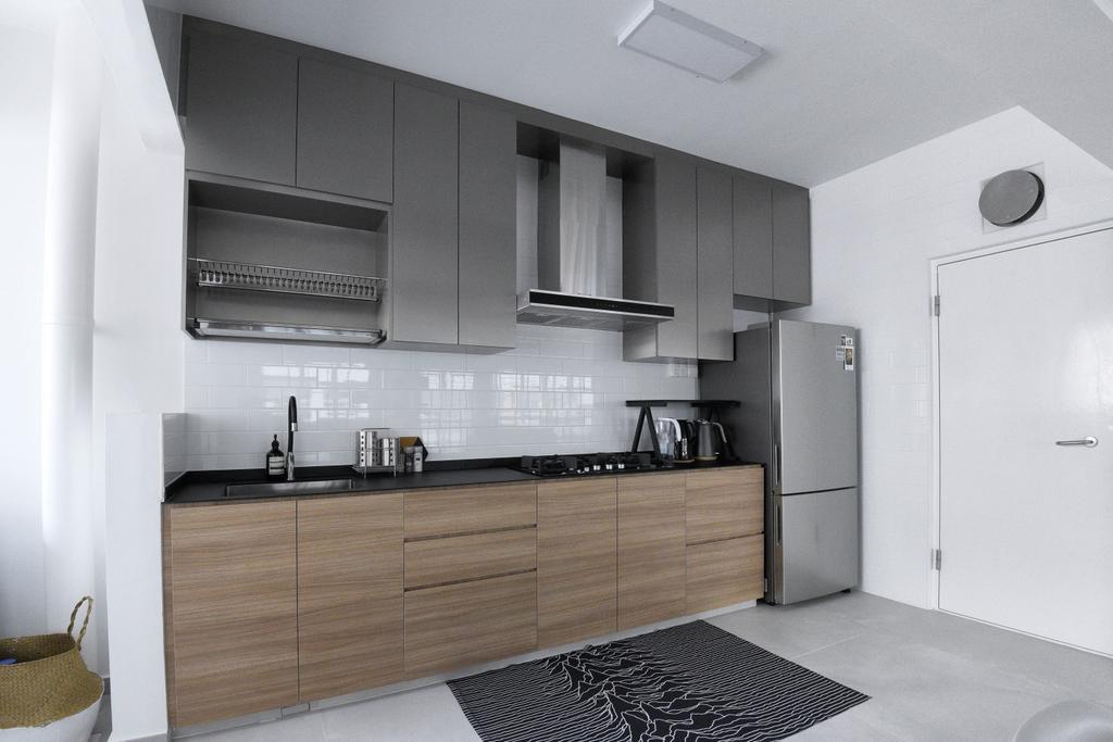 Modern, HDB, Kitchen, Bukit Batok West Avenue 8, Interior Designer, Colourbox Interior, Contemporary
