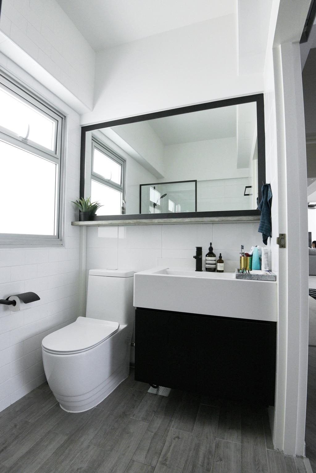 Modern, HDB, Bathroom, Bukit Batok West Avenue 8, Interior Designer, Colourbox Interior, Contemporary