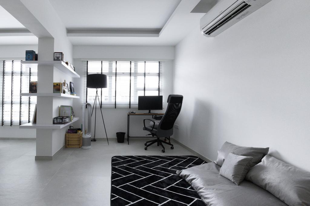 Modern, HDB, Study, Bukit Batok West Avenue 8, Interior Designer, Colourbox Interior, Contemporary