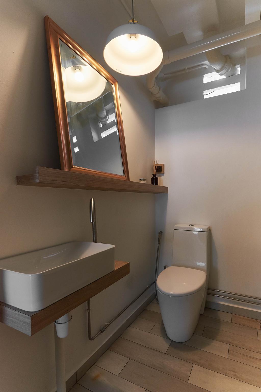 Eclectic, HDB, Bathroom, Moh Guan Terrace, Interior Designer, M3 Studio, Industrial