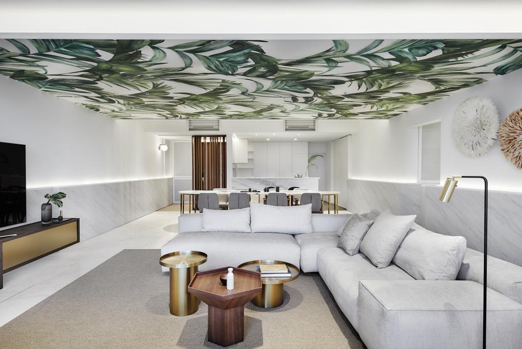 Contemporary, Condo, Living Room, The Seafront, Interior Designer, IN-EXPAT, Minimalistic